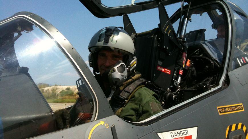 Un pilote d'Alphajet de Cazaux