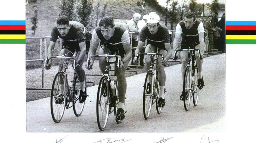 Les champions du monde du 100 kms Contre La Montre cycliste de 1963