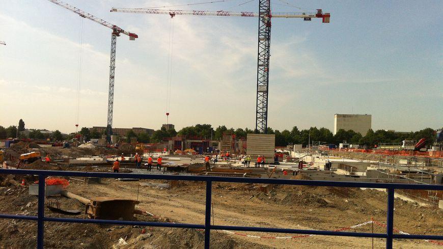 Le chantier du Grand Stade à Bordeaux-Lac