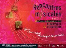Affiche Festival Rencontres musicales Savoie 2013