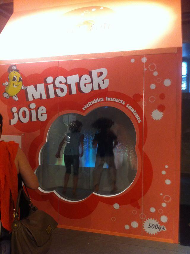 Trampoline Mister Bean ! Exposition La fabrique des Émotions de Sylvie Hazebroucq, au 104 à Paris en 2011