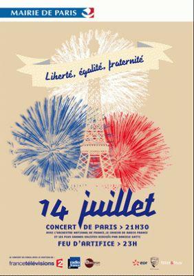 Concert à la Tour Eiffel du 14 juillet 2013