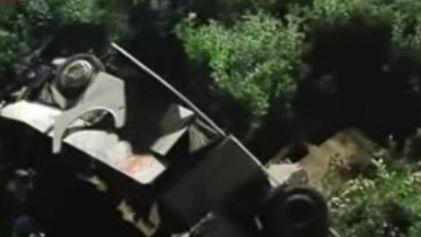 Les premières images de l'accident, rapportées par la chaîne d'informations Sky TG24