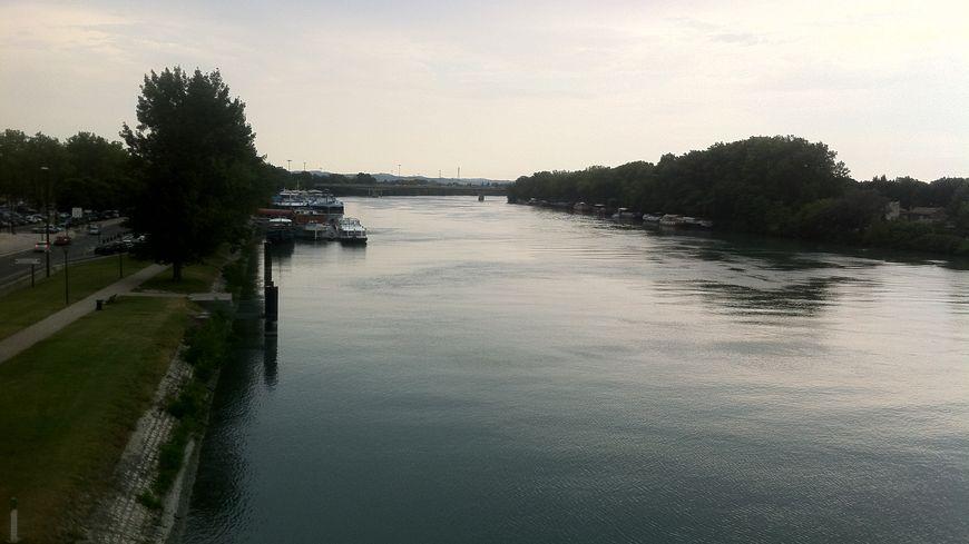 Les bords du Rhône à hauteur d'Avignon.