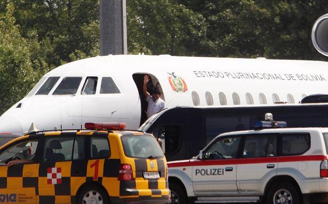 L'avion d'Evo Morales