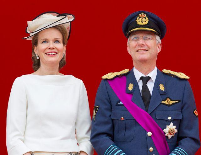 Prince Philippe et princesse Mathilde