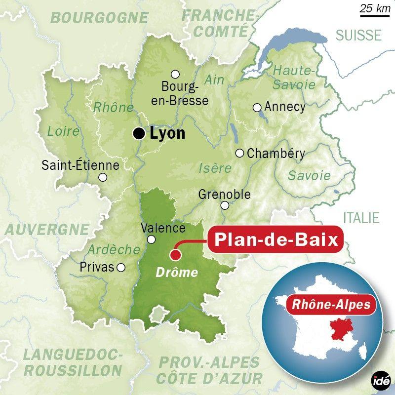 Plan-de-Baix, dans le sud du Vercors