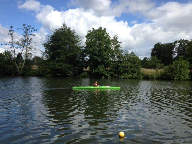 Tatiana en kayak