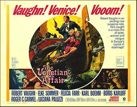 Pochette BO The Venetian Affair, Jerry Thorpe, 1967