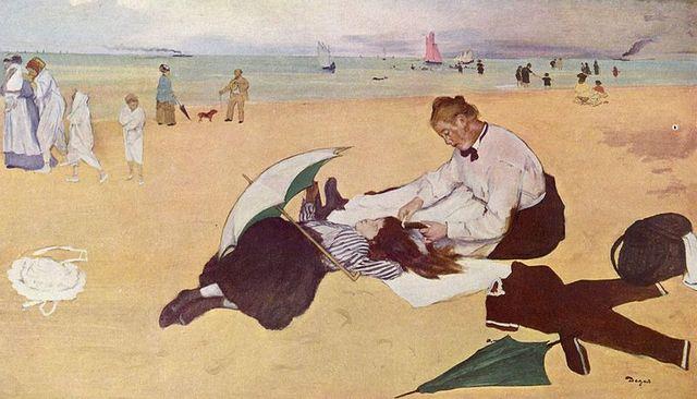 Scène de plage. Edgar Degas