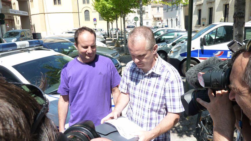 Christophe Allex et Daniel Steward du syndicat Unité SGP Police Drôme