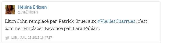 Bruel twitt