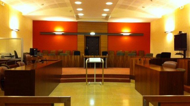 La grande salle d'audience du palais de Justice de Valence