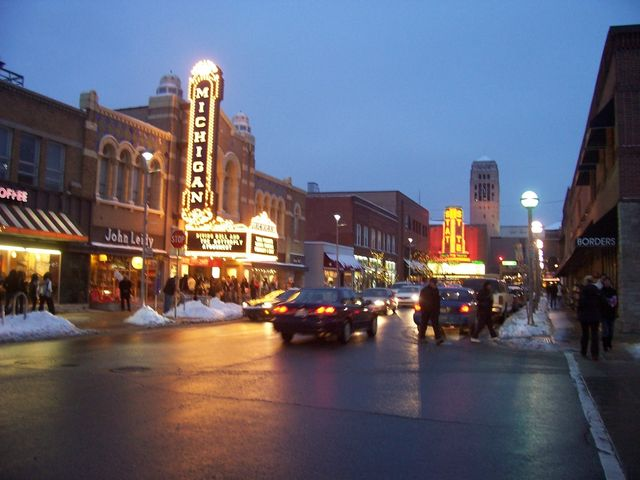 Ann Arbor, Michigan vue de Liberty Street