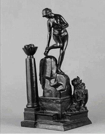 """Antoine Bourdelle (1861-1929), """"Vénus à sa toilette, petite baigneuse"""". Bronze, 1905. Paris, musée Bourdelle."""