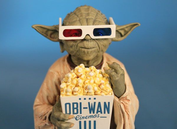 Yoda in 3D Glasses