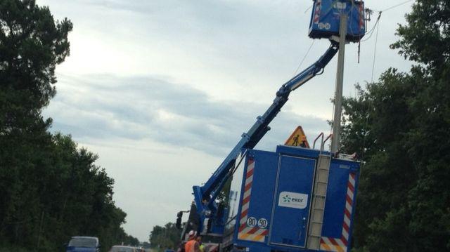 Réparations de lignes électriques par ERDF