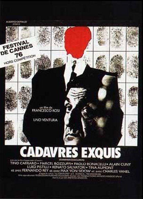 Affiche de Cadavres Exquis, de Francesco Rosi, 1976