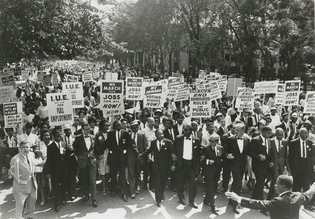 March on Washington for Jobs and Freedom, Martin Luther King, Jr. and Joachim Prinz, 1963