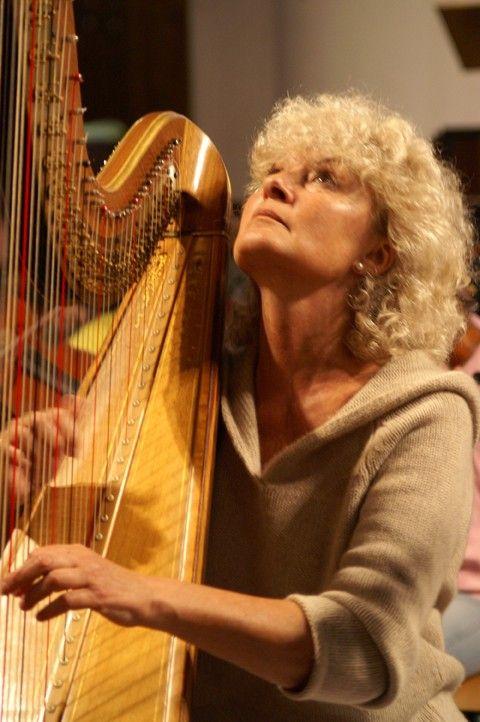 La harpiste Marielle Nordmann