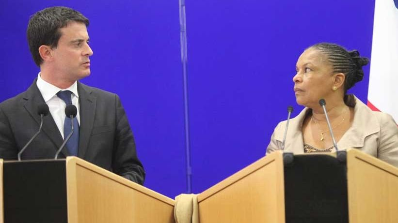 Manuel Valls et Christiane Taubira