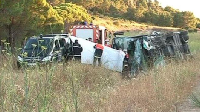 Un accident d'autocar a fait deux morts sur l'A9, à hauteur de Fitou dans l'Aude