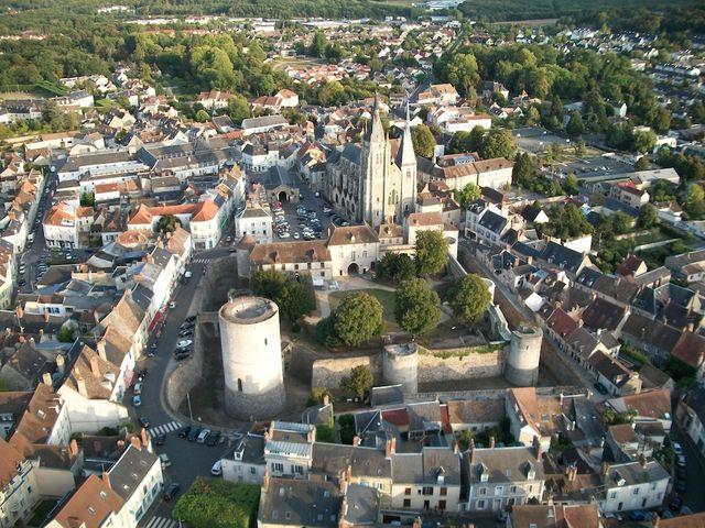 Vue de la ville de Dourdan (Essonne)