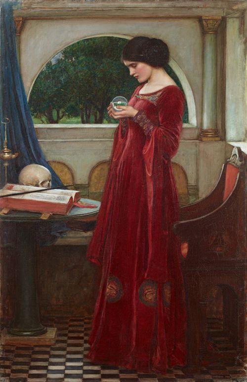 John William Waterhouse (1849-1917) La Boule de cristal, 1902 Huile sur toile, 121,6 x 79,7 cm Mexico, Collection Pérez Simón