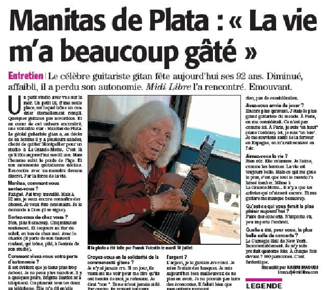 Manitas de Plata (Midi Libre)