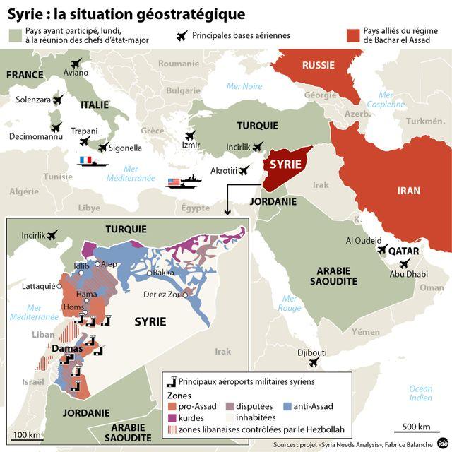 La situation géopolitique autour de la Syrie