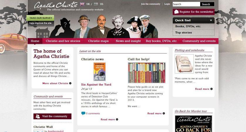 Agatha Christie site officiel