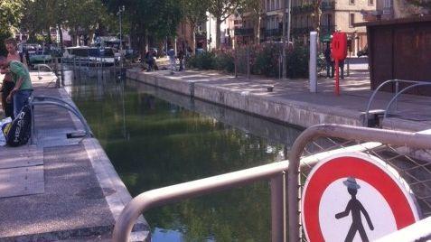 Vu d'ici: à Toulouse la sécurisation de l'écluse Bayard sur le canal du midi