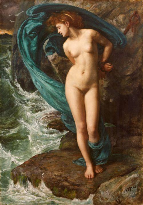 Sir Edward John Poynter (1836 – 1919) Andromède, 1869 Huile sur toile 51,3 x 35,7 cm Collection Pérez Simón, Mexico