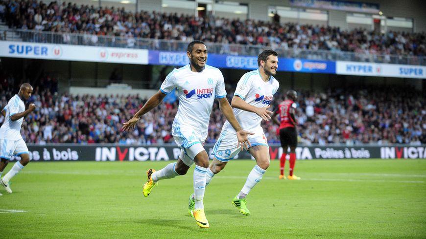 Dimitri Payet a inscrit un doublé contre Guingamp  pour son premier match avec le maillot de l'OM