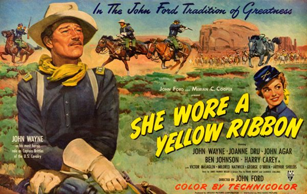 "Affiche du film ""Yellow Ribbon"" de John Ford"