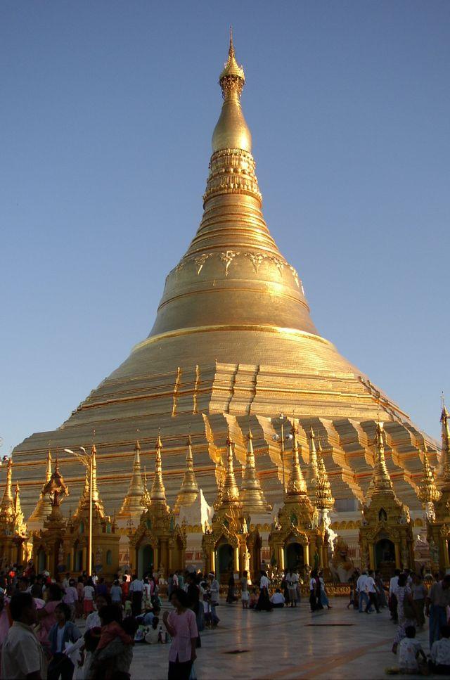 Pagode Shwedagon à Rangoun, Birmanie