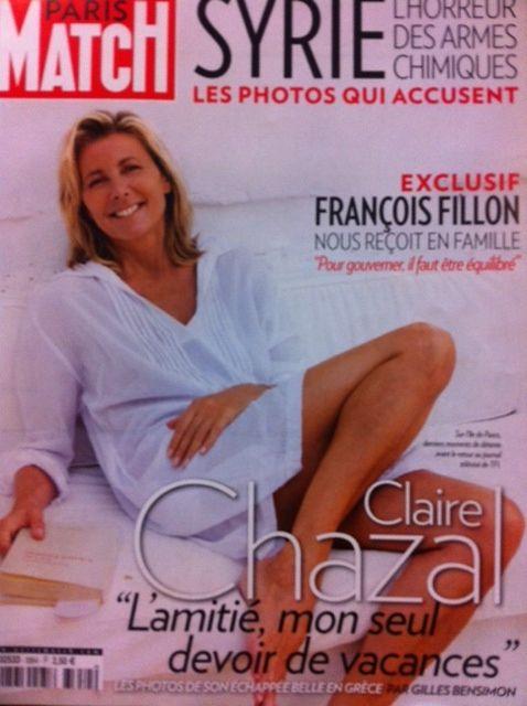Une de Paris Match Claire Chazal