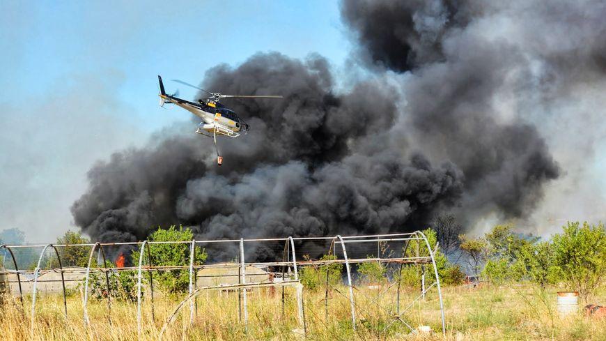 Incendie près de la prison de Perpignan