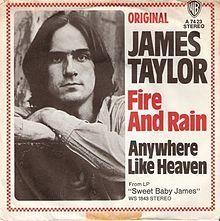 """Fire and rain"" de James Taylor, 1970"