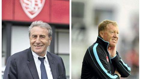 Le président Yvon Kermarrec et l'entraîneur Alex Dupont : le binôme du stade brestois cette saison
