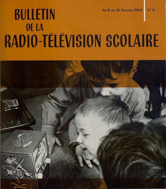 Couverture du n°0 du Bulletin de la radio-télévisions scolaire du 6 au 18 janvier 1964