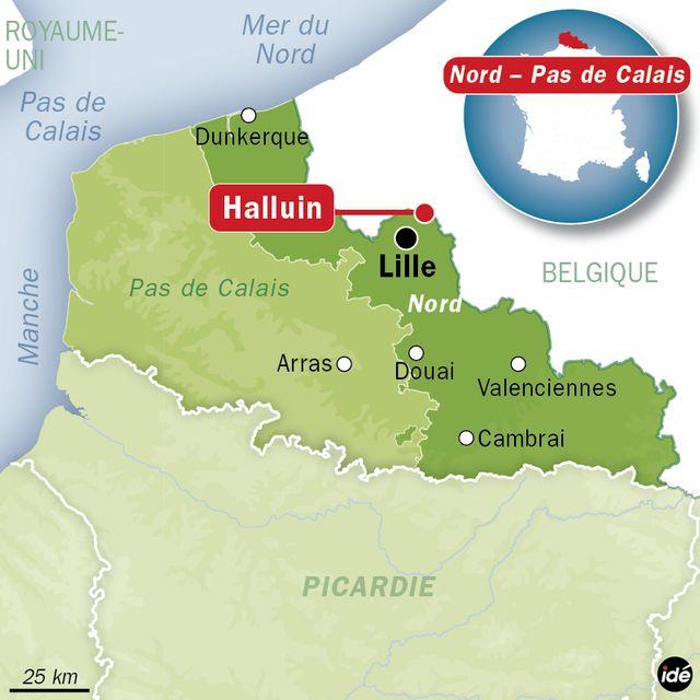 Carte de situation Halluin