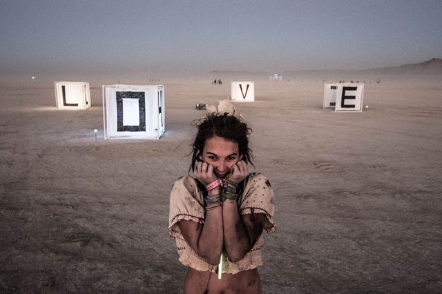 """Photographie tirée de l'exposition """"Burning Man"""""""