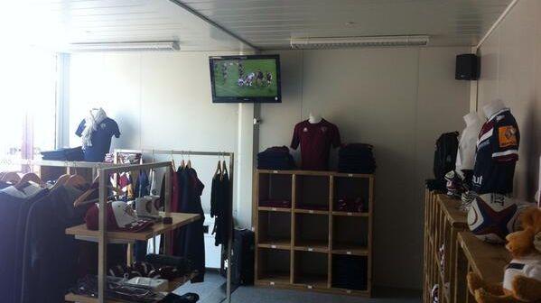 La nouvelle boutique de l'UBB au stade André Moga
