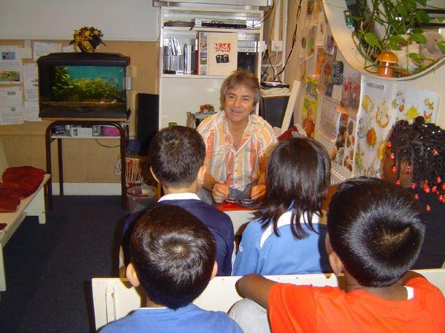 Alain Gillier et ses élèves