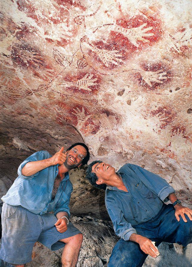 Luc-Henri Fage et Jean-Micjel Chazine grotte de Tewet