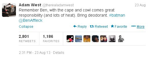 Adam West Tweet
