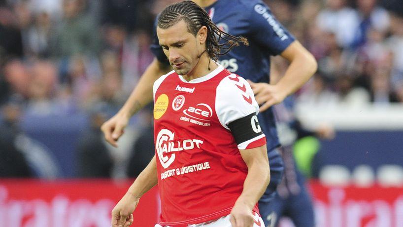 Le capitaine du Stade de Reims Mickaël Tacalfred