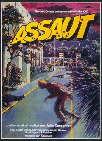 "Affiche du film ""Assaut"", John Carpenter"