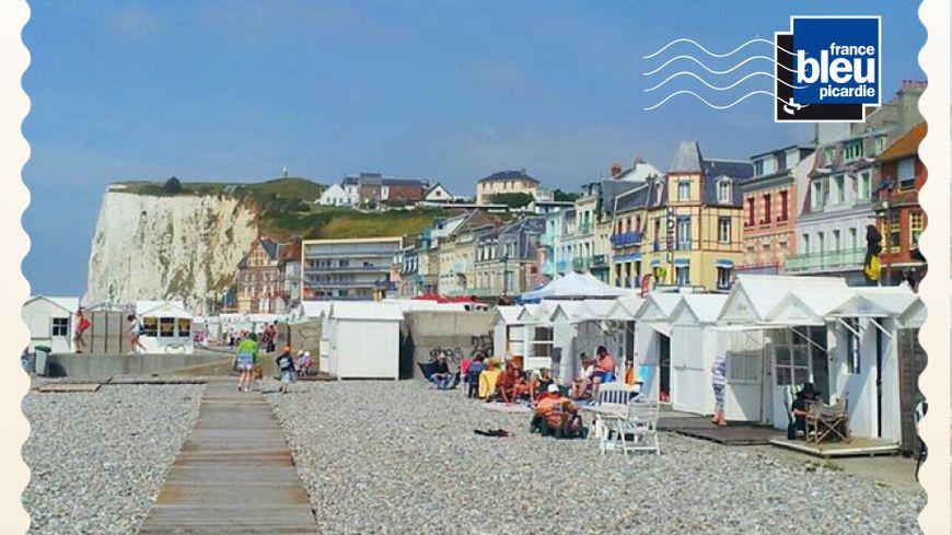 Carte postale à Mers-les-Bains